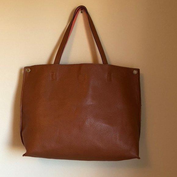 Free People Vegan Leather Reversible Tote Bag